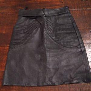 Dresses & Skirts - Vintage Leather Skirt Size 4